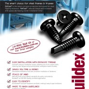 Product brochure for steel framing screws with EziCoat
