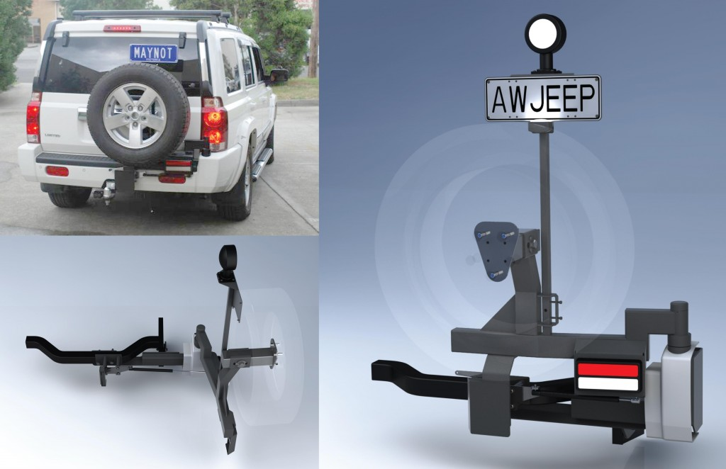 Spare Wheel Carrier Jeep Commander Mano Design